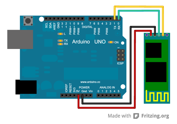 Circuito Bluetooth Casero : Interface entre arduino e android com bluetooth embarcados