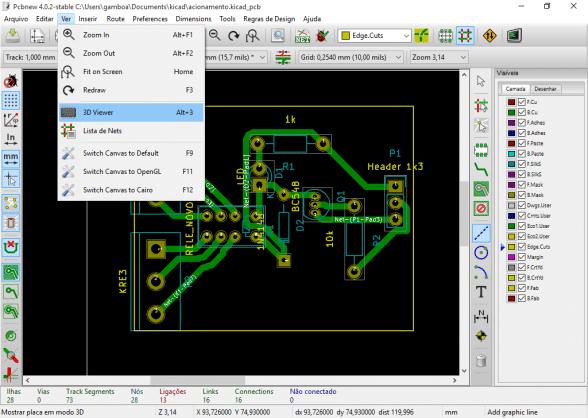 Criando uma PCB no Kicad